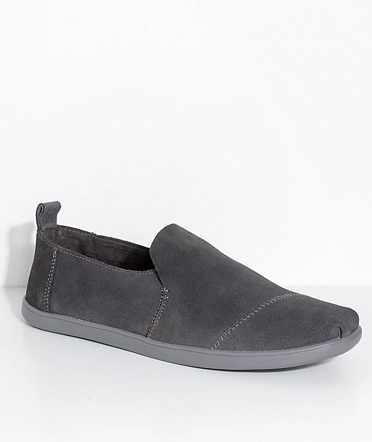 feef103a1db Toms Deconstructed Alpargatas Forged Iron Grey Suede Shoes