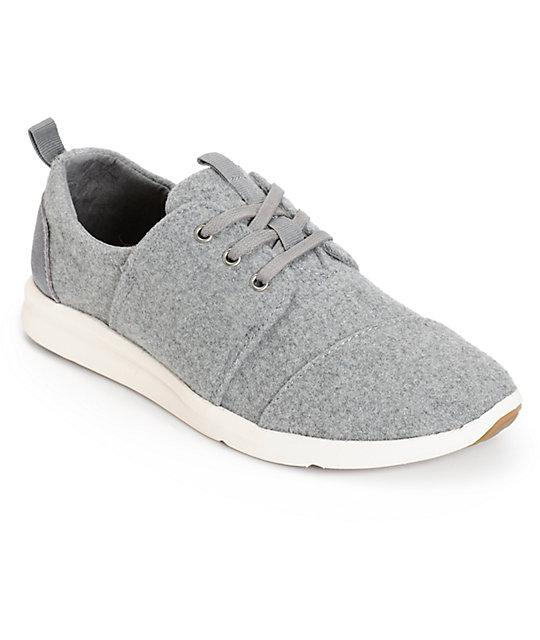 b428bfd3ae50f Toms Del Rey Grey Felt Womens Shoes