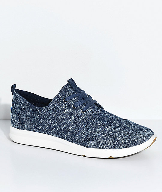 TOMS Navy Washed Canvas Del Rey Sneaker a6ouRApv