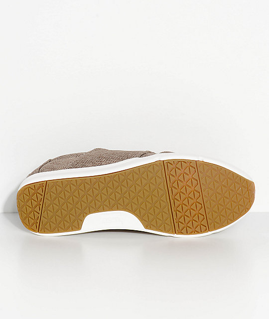 Toms Del Rey Taupe Polyester Canvas Shoes