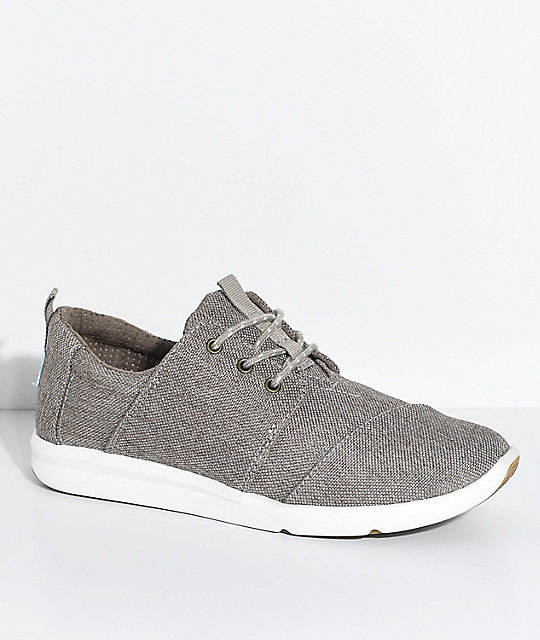 Rey Toms Canvas Taupe Polyester Shoes Del 35Rq4ALj