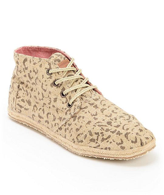 2c2f789cfa0 Toms Desert Botas Snow Leopard Print Womens Shoes