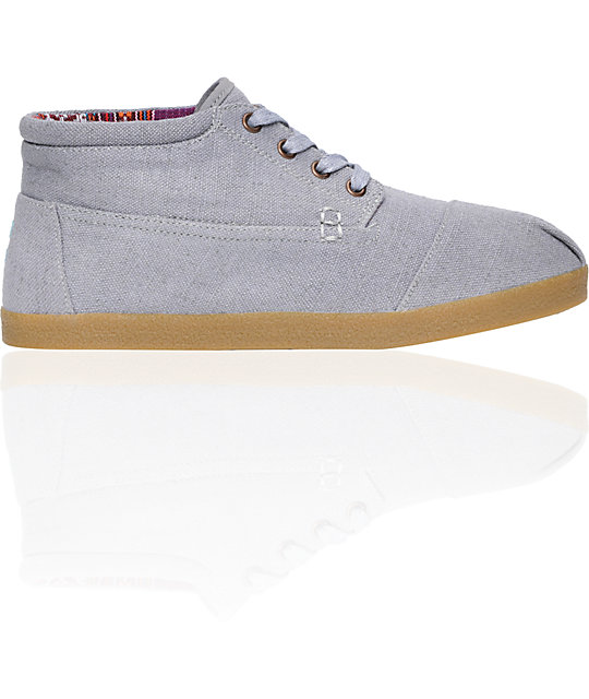 Toms Highlands Botas Grey Canvas Shoes