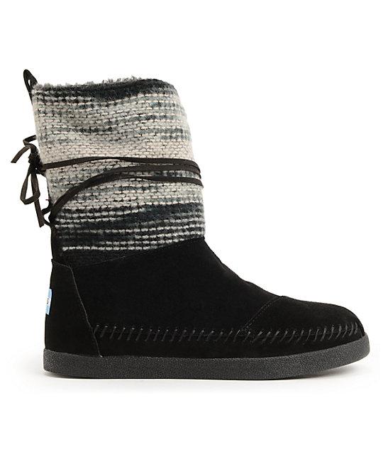b415af24962 ... Toms Nepal Black Wool Stripe Womens Boots