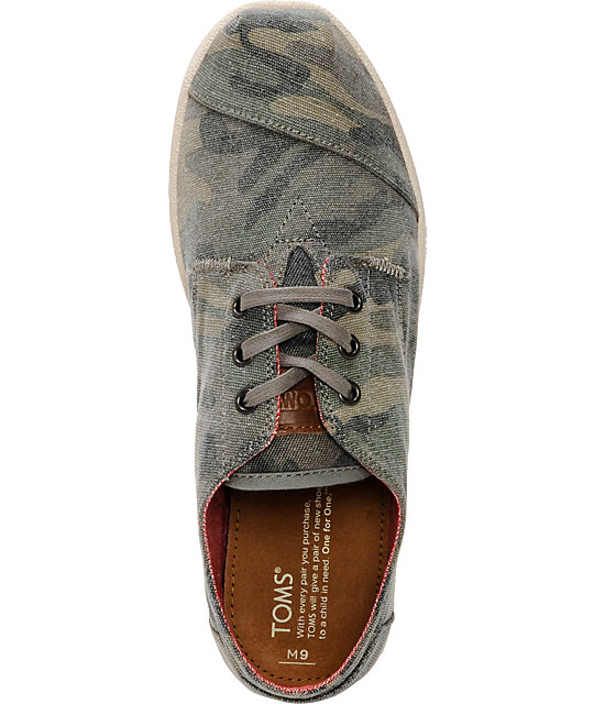 Toms Paseos Camo Canvas Mens Shoes