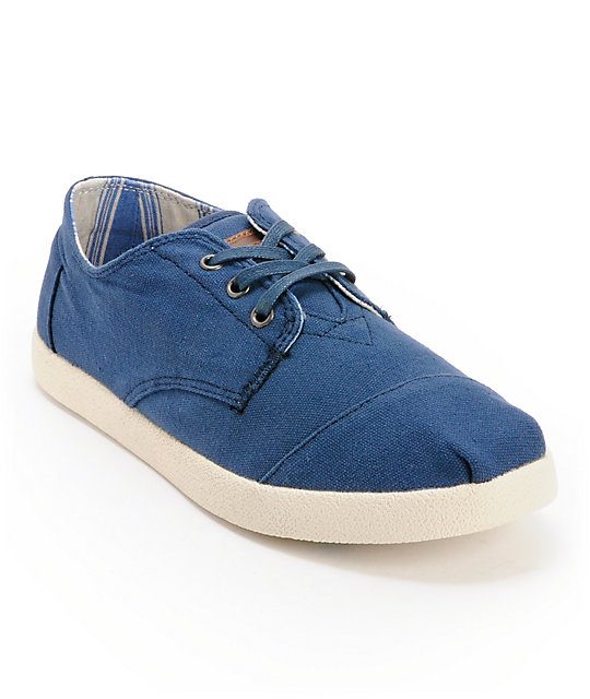 Toms Paseos Navy Canvas Mens Shoes