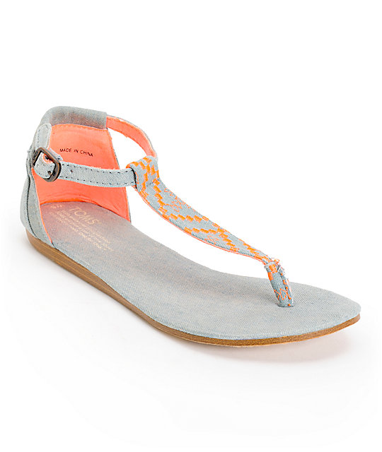 7fad409a142 Toms Playa Neon Denim Womens Sandals