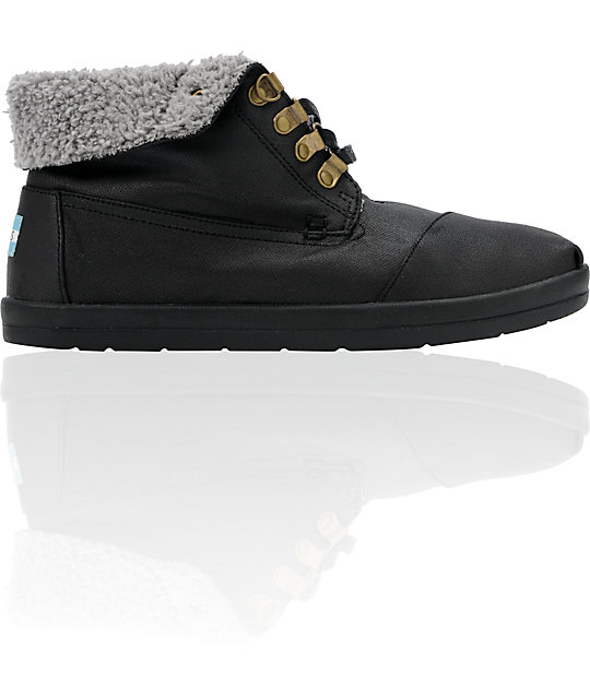 Toms Shoes Botas Highlands Black Fleece Shoes