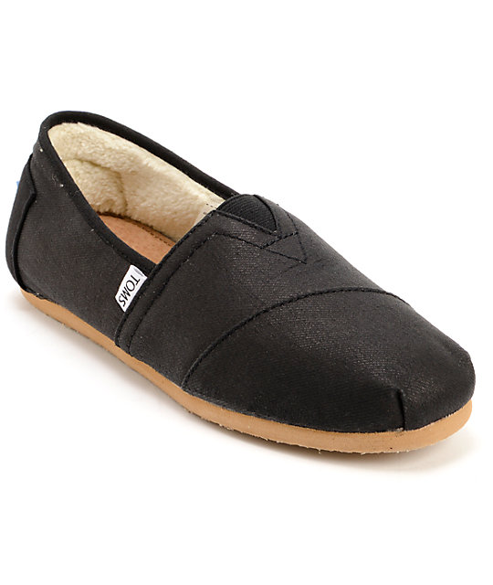 bf98743ce6 Toms Shoes Classics Aviator Black Twill Shoes | Zumiez