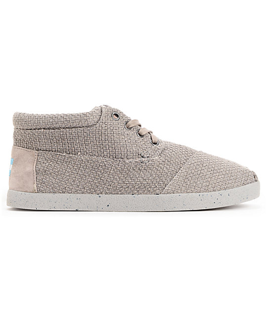 Toms Shoes Grey Basket Weave Botas Mens Shoes