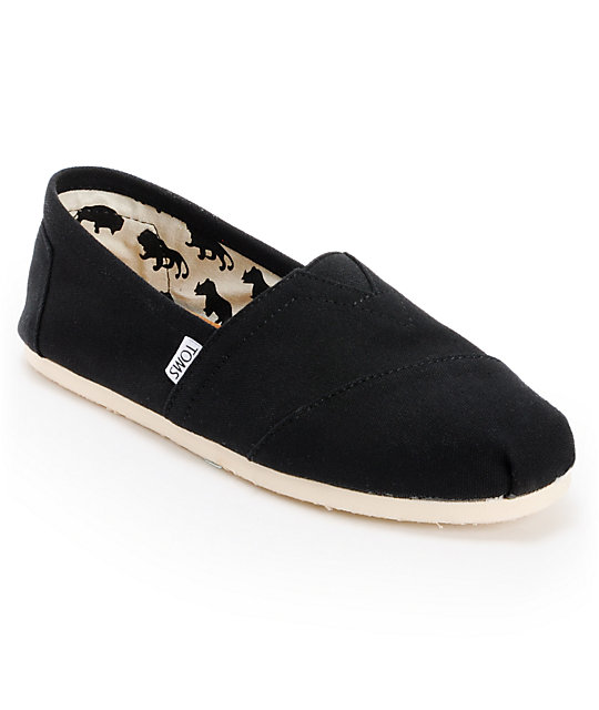 0b2cc7de81 Toms Shoes Mens Classic Black Shoes | Zumiez