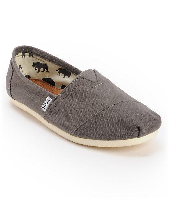 TOMS - Zapatos de cordones de Tela para hombre gris gris AJBqb3q4
