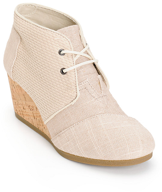d85ec2f27f6 Toms Whisper Burlap Desert Wedge Shoes