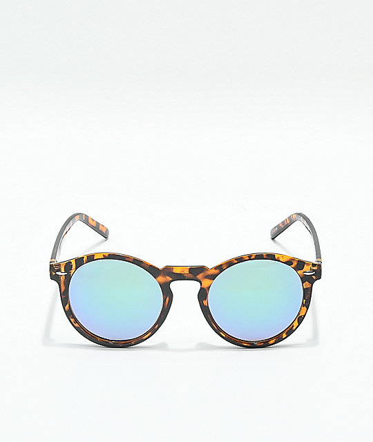 Tortoise & Blue Mirror Sunglasses