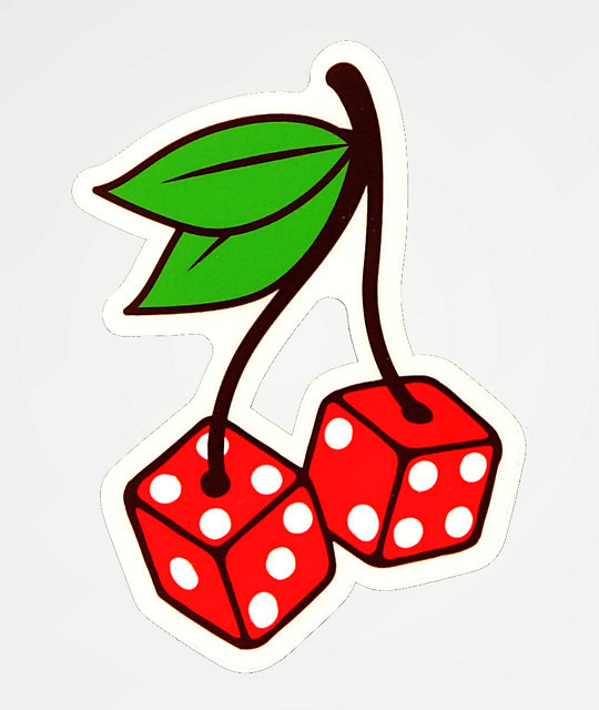Tough Times Cherry Dice Sticker