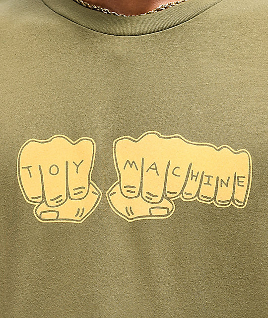 Toy Machine Fist camiseta verde miliar
