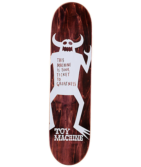 "Toy Machine Sect Eye 8.25""  Skateboard Deck"