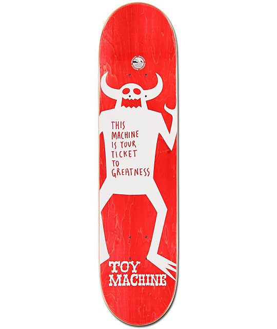 "Toy Machine Sect Face 7.9""  Skateboard Deck"