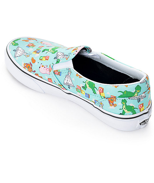 Vans Toy Story Slip On verde
