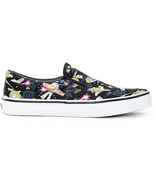 ba3039f536 ... Toy Story x Vans Classic Slip On Buzz Lightyear Kids Shoes