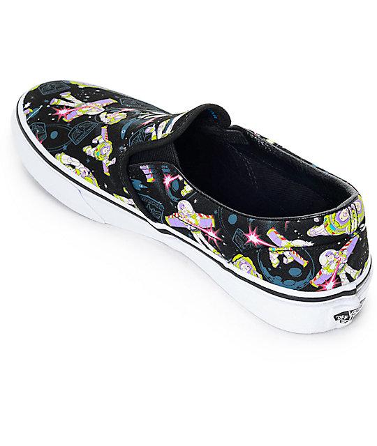 8c40b5d60f ... Toy Story x Vans Classic Slip On Buzz Lightyear Kids Shoes ...