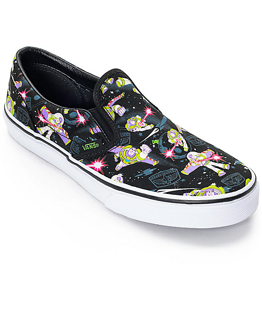 Toy Story x Vans Classic Slip On Buzz Lightyear Kids Shoes