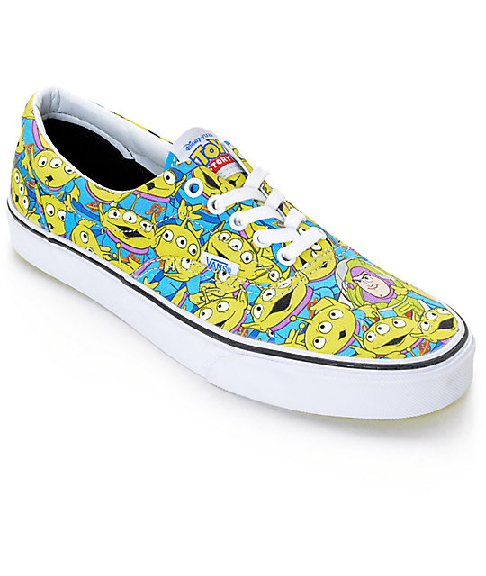 Toy Story X Vans Era Alien Print Shoes Zumiez