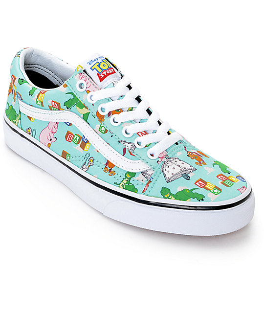 Enjoy Mens Casual Shoes Vans Old Skool X Toy Story Collection Toy Story Andy's Toys/Blue Tint