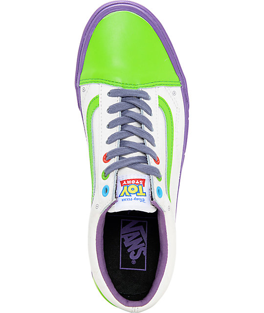 0f4378e565 ... Toy Story x Vans Old Skool Buzz Lightyear Shoes ...