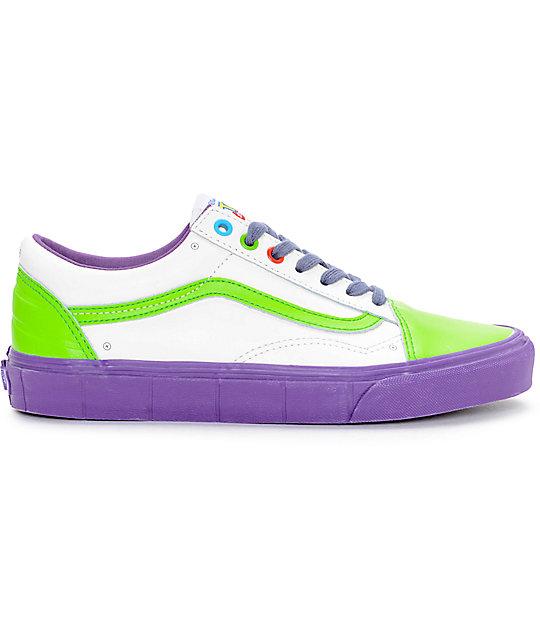 Toy Story X Vans Old Skool Buzz Lightyear Shoes Zumiez