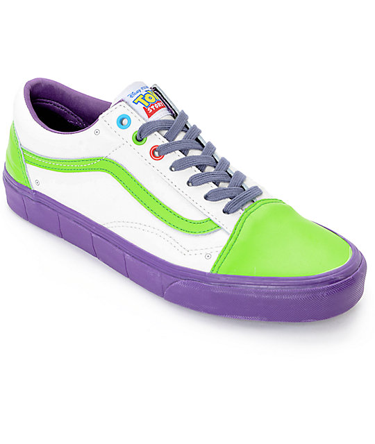 Toy Story X Vans Old Skool Buzz Lightyear Shoes Zumiez