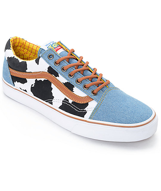 Toy Story X Vans Old Skool Woody Shoes Zumiez