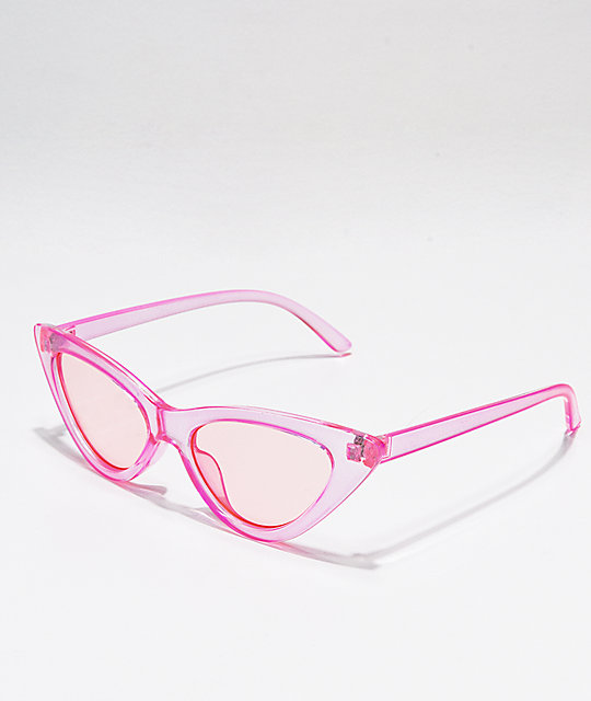 c9505d2c5780f Transparent Pink Cat Eye Sunglasses