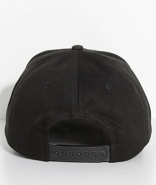 3cca69c3a7c ... Trap Lord Crest Black Snapback Hat
