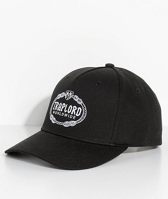 4c5da9e4247 Trap Lord Crest Black Snapback Hat