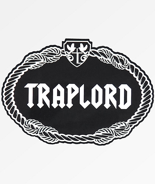 Trap Lord Crest Black Sticker