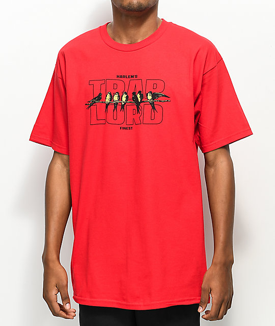 Traplord Birds Red T-Shirt