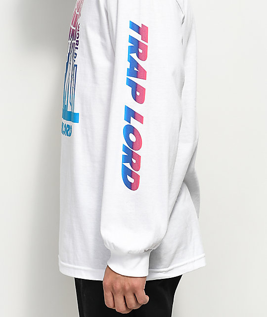 Traplord City Logo Long Sleeve White T-Shirt