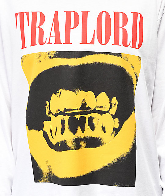 Traplord Ferg Grills White Long Sleeve T-Shirt
