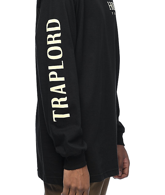 Traplord Hood Pope Black Long Sleeve T-Shirt