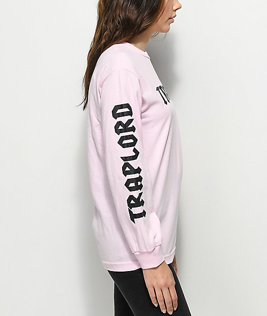 Traplord Logo Pink Long Sleeve T-Shirt
