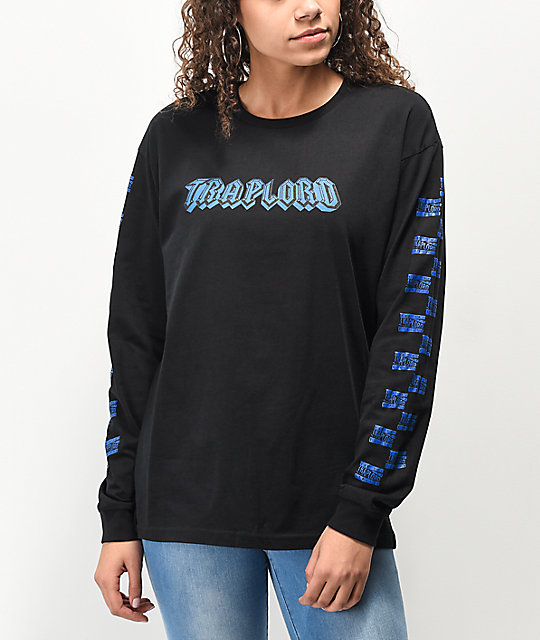 Traplord Tracklist Black Long Sleeve T-Shirt