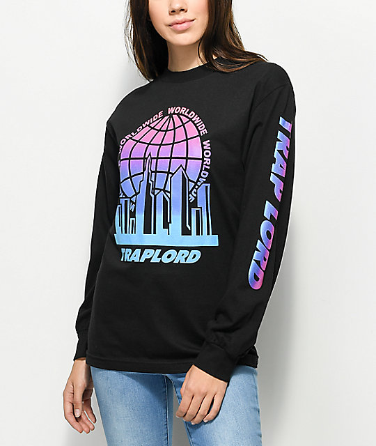 Traplord Worldwide Black Long Sleeve T-Shirt