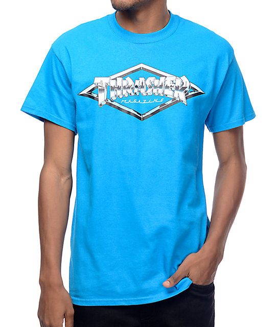 Trasher Diamond Emblem camiseta azul