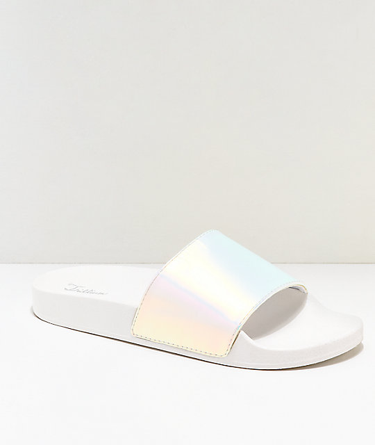 Trillium Muted Metallic Slide Sandals