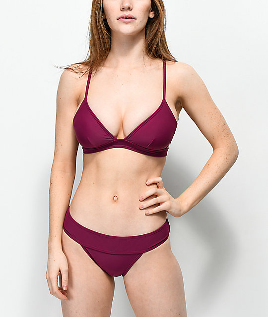 Trillium South Beach braguitas de bikini en color borgoño