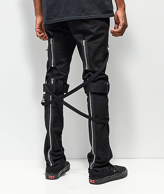 Tripp NYC Slim Black Bondage Pants