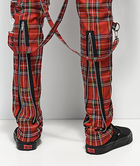Tripp NYC Slim Red Bondage Pants