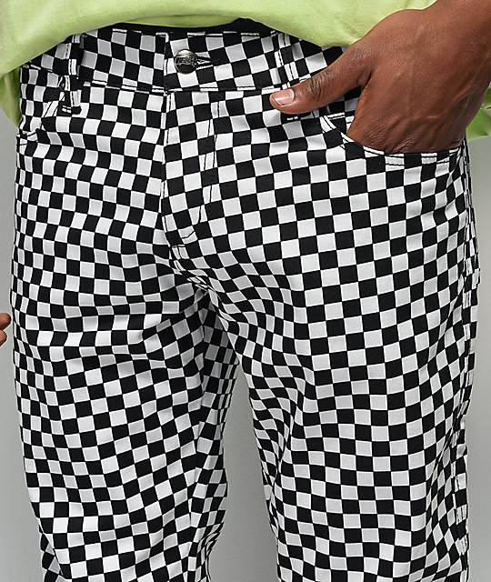 Tripp NYC White Checkered Jeans