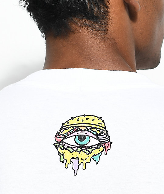 Trippy Burger Chop It White T-Shirt